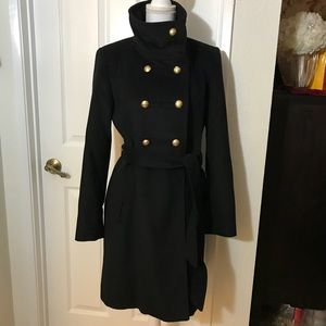 Ellen Tracy Military Style Double Breast Coat Sz 6
